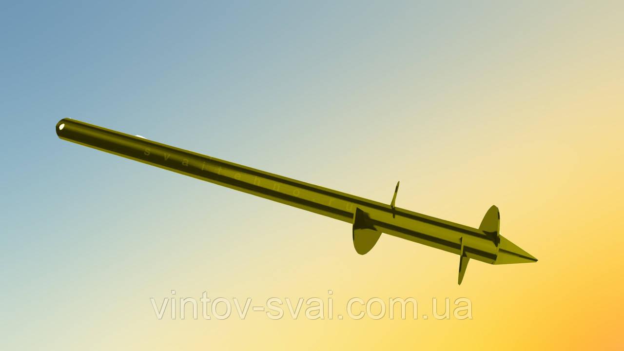 Паля гвинтова двухвитковая Ø89 мм. 5500 мм