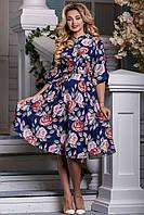 Летнее платье софт с оригинальным фотопринтом.