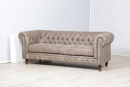 "Кожаный диван ""Честер Арт"" Алькор (215см), фото 2"