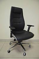 Кресло Элеганс НВ \Неаполь-20 черный\ боковины, задник Неаполь 23 серый