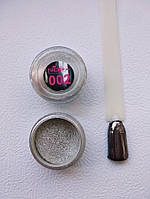Зеркальная пудра для ногтей Nice 002, серебро (хром)1 грамм