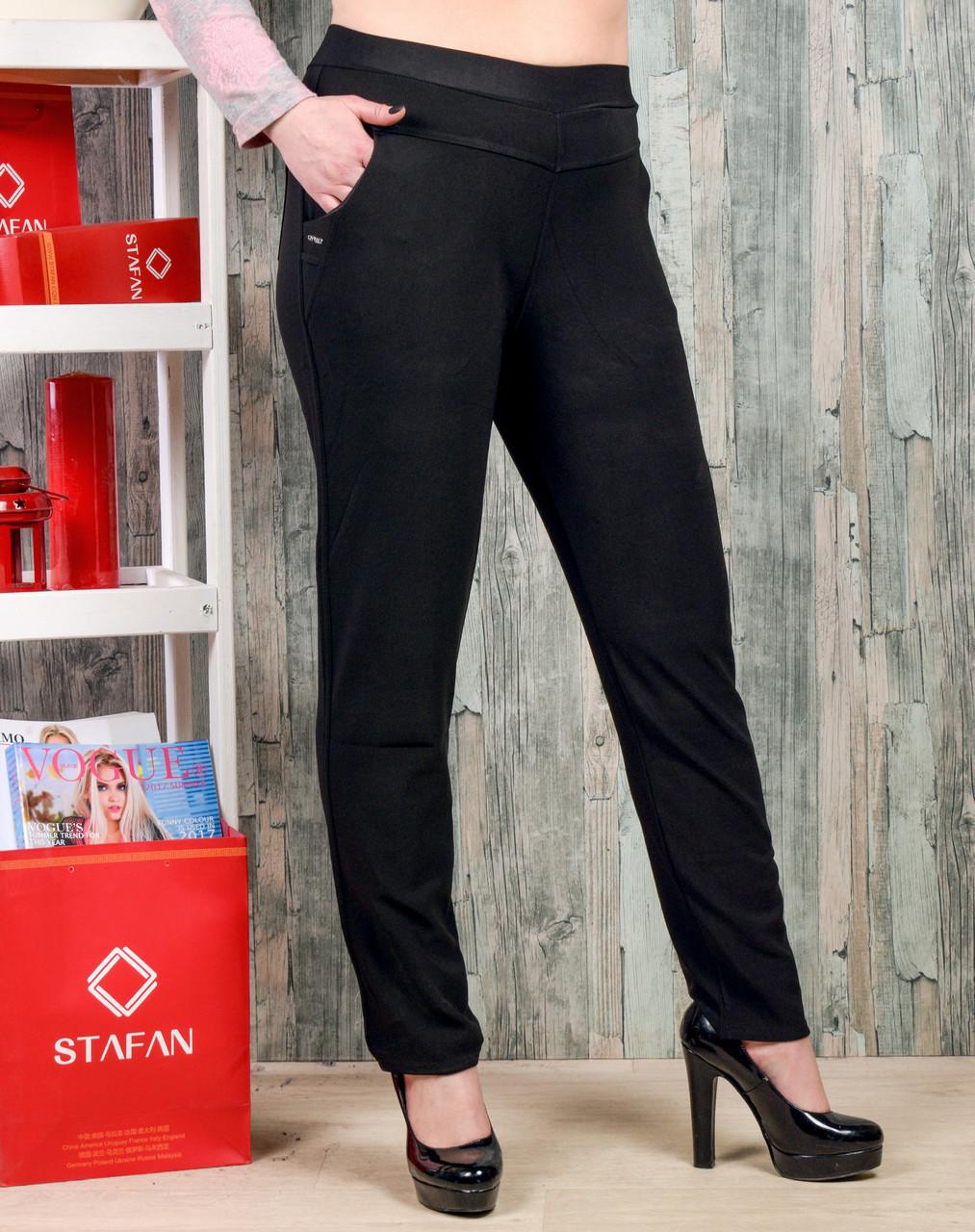 Женские брюки со стразиками на карманах Jujube B035-1 4XL-6XL. Размер