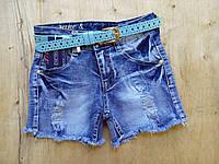 Джынсовые шорты для девочки. Размеры 140