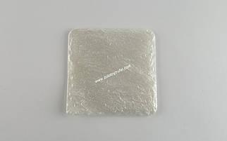 """Тарелка пластиковая """"Природный камень """"Серебро"""" 11*11 см"""