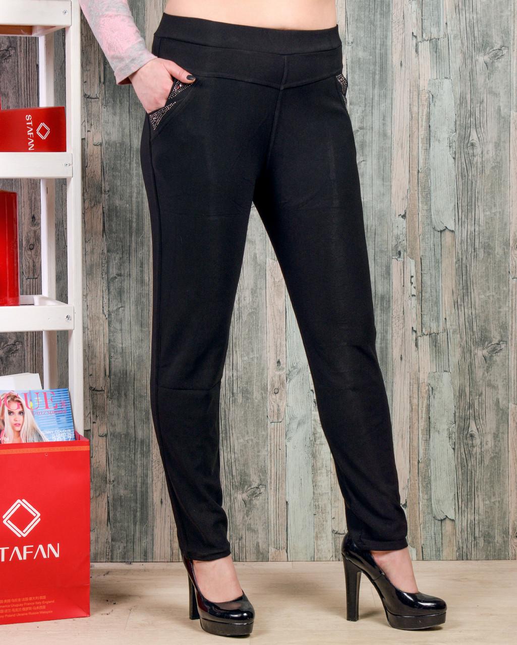 Женские брюки со стразиками на карманах Jujube B035-2 L-XL. Размер 46-