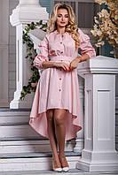 Асимметричное платье на пуговичках.