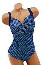 Женский сдельный купальник с драпировкой большие размеры, фото 2