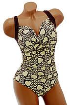 Женский сдельный купальник с драпировкой большие размеры, фото 3