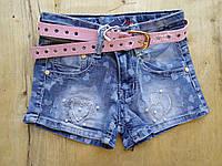 Джынсовые шорты для девочки. Размеры 104