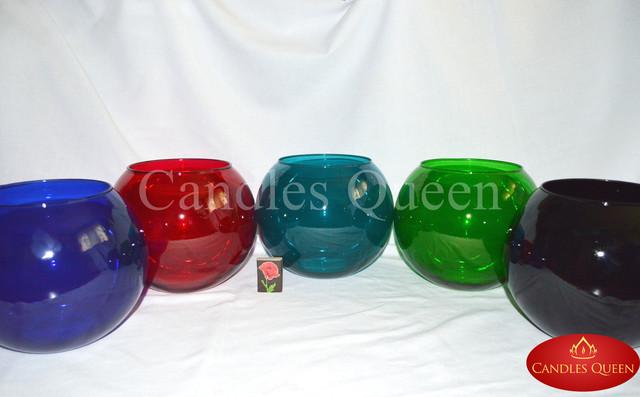 Цветная ваза круглая