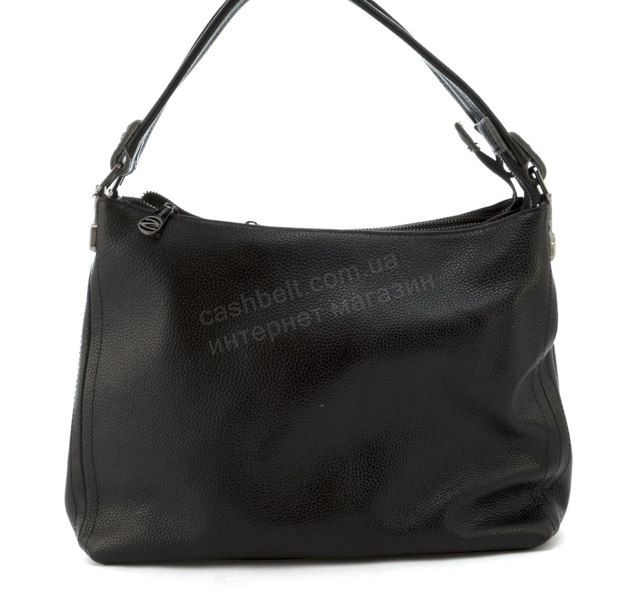d6c87b533133 Вместительная стильная прочная кожаная женская мягкая сумка SARA art. 5015  черный