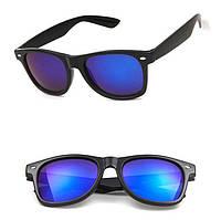 Очки солнцезащитные Сolorful зеркальные форма Wayfarer RB2140 синие  полу-зеркалки b03c97f422574