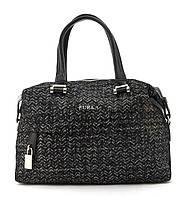 Стильная кожаная элитная женская сумка с качественной кожи FURLA art. 10411C Турция черный
