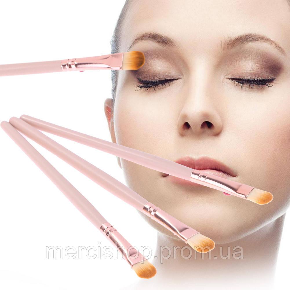 Набор из 6 шт. одинаковых кистей для макияжа (маленькая лопатка:тон/тени/корректоры/и др.)