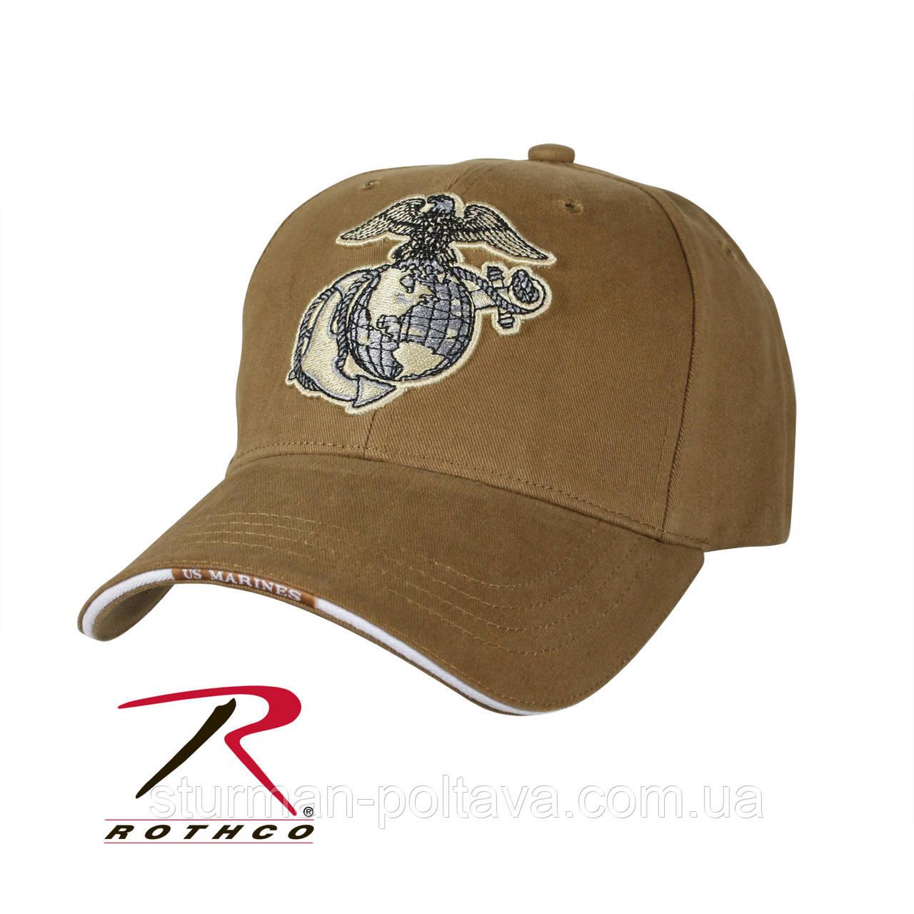 Бейсболка Rotcho морских сил коричневая CAP / GLOBE & ANCHOR - COYOTE