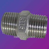 Ниппель из нержавеющей стали (прямой) Ду 40 AISI 304