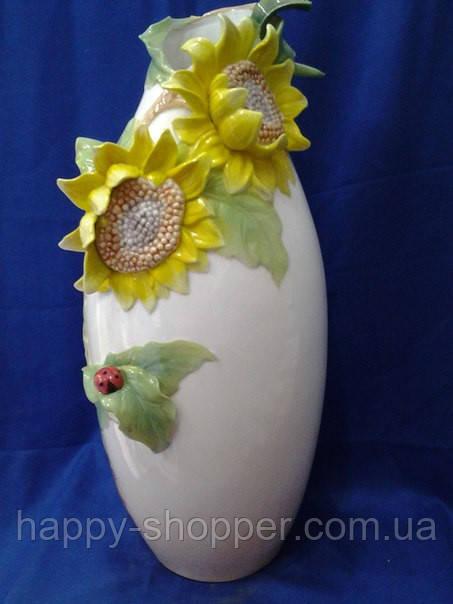 Фарфоровая ваза с подсолнухами 7040