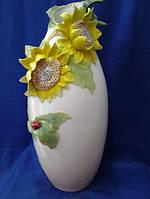 Фарфоровая ваза с подсолнухами