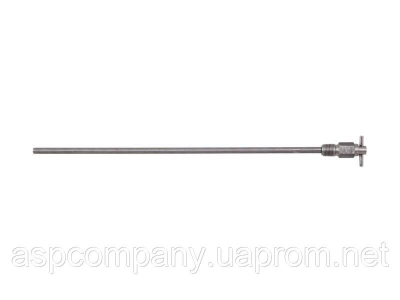 """Клапан дренажний 1/4"""" MPT з Т-подібною ручкою з трубкою 12"""" ;Continental NH3 A-410"""