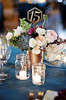 Номерки на стол для свадьбы, в ресторан, деревянные без основы в букет