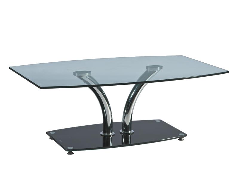 Журнальний кофейний стіл зі скла у вітальню Kenzo B Signal