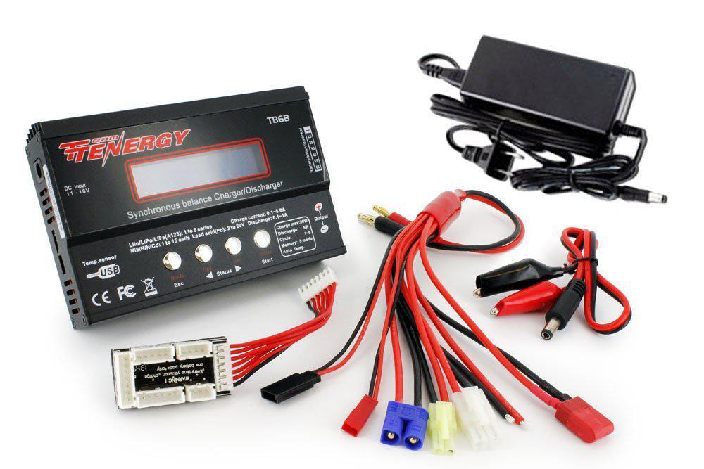 Универсальное зарядное устройство Tenergy TB6-B для аккумуляторов NiMH/NiCD/Li-PO/Li-Fe