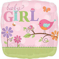 """Фольгированные шары с рисунком 18"""" Пение птиц для девочки  Anagram"""