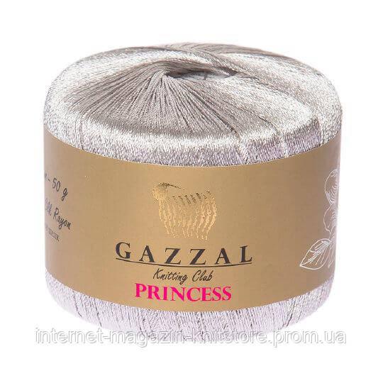 Пряжа Gazzal Princess серебро