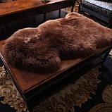 Овчина коричнева шкура шоколадного кольору, темні овечі шкури, фото 3