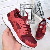Кроссовки женские Nike Huarache  бордо 4688, люкс качество