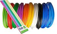 Набор PLA пластика для 3D ручки, 10 цв., 30 м, толщина 2.85 мм для 3Doodler Create