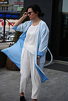 Женское весеннее пальто NKLOOK голубое, фото 1