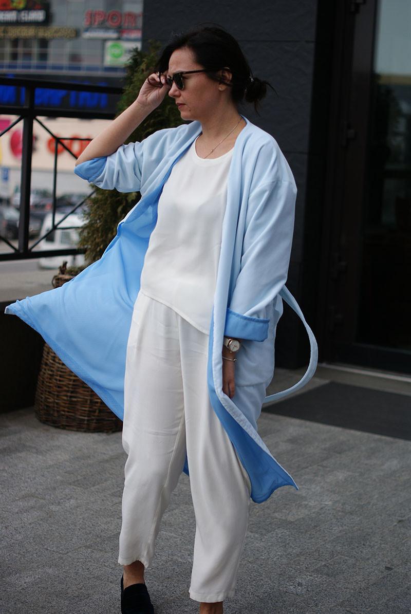 Женское весеннее пальто NKLOOK голубое