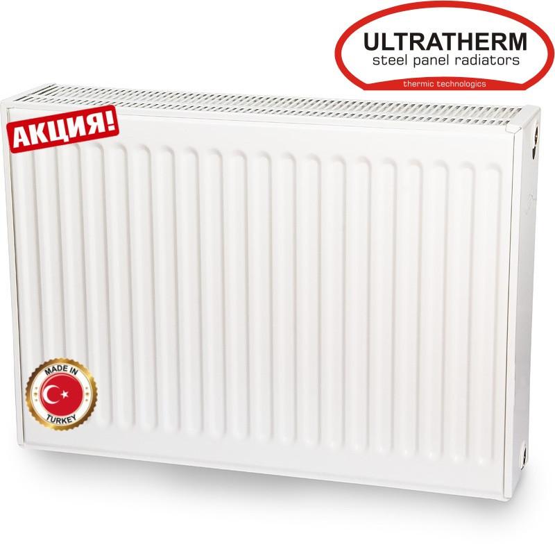 Сталевий панельний радіатор Ultratherm 22 тип 600/1400 з боковим підключенням (Туреччина)
