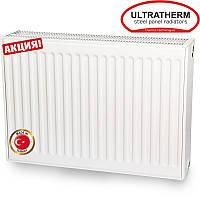 Сталевий панельний радіатор Ultratherm 22 тип 600/1400 з боковим підключенням (Туреччина), фото 1