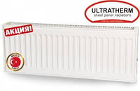 Стальной радиатор отопления Ultratherm 22 тип 300/1400 боковое подключение (Турция), фото 1