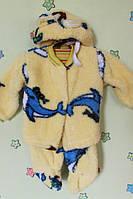 Детский костюм малышей три предмета на пуговицах, материал травка р.22,24,26 22