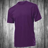 Футболка мужская фиолетовая с круглым вырезом Stedman - 00764