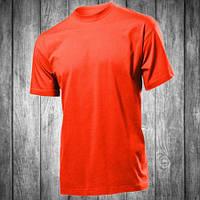 Футболка мужская темно оранжевая с круглым вырезом Stedman - 00765