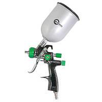 LVLP GREEN NEW Профессиональный краскораспылитель 1.3мм, верхний мет. бак 600мл. Intertool PT-0131