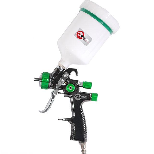 LVLP GREEN NEW Профессиональный краскораспылитель 1.3мм, верхний пластиковый бачок 600мл., mах 1.5