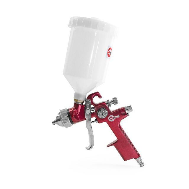 HVLP RED PROF Краскораспылитель 1.4мм, верхний пластиковый бачок 600мл. Intertool PT-0104
