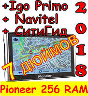 GPS навигатор Pioneer 7 дюймов 256 RAM/ 8GB ROM с Картами Автомобильный GPS навигатор