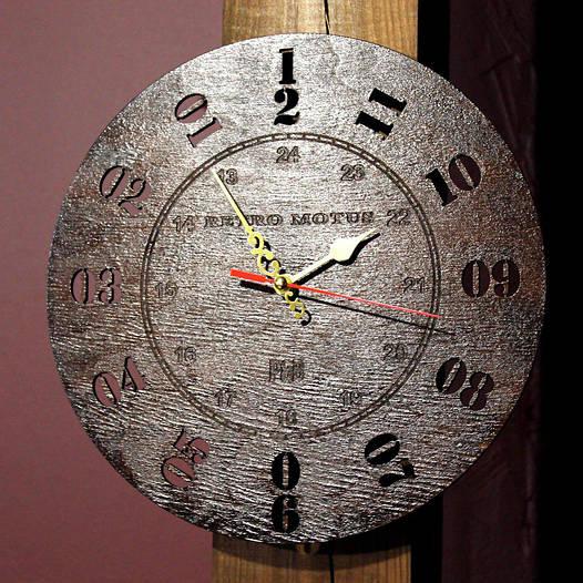 Настенные часы с обратным ходом, античасы RetroMotus (250 мм) [Дерево]