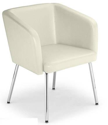 Кресло мягкое Hello 4L chrome экокожа Eсо-50 (Новый Стиль ТМ), фото 2