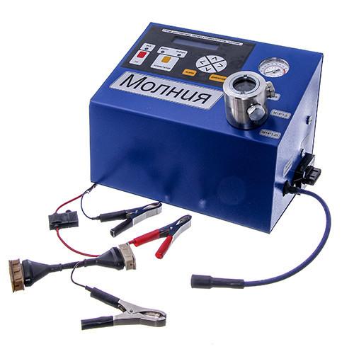 """Прибор для проверки свечей зажигания и коммутаторов """"Молния"""" (12В) с компрессором"""