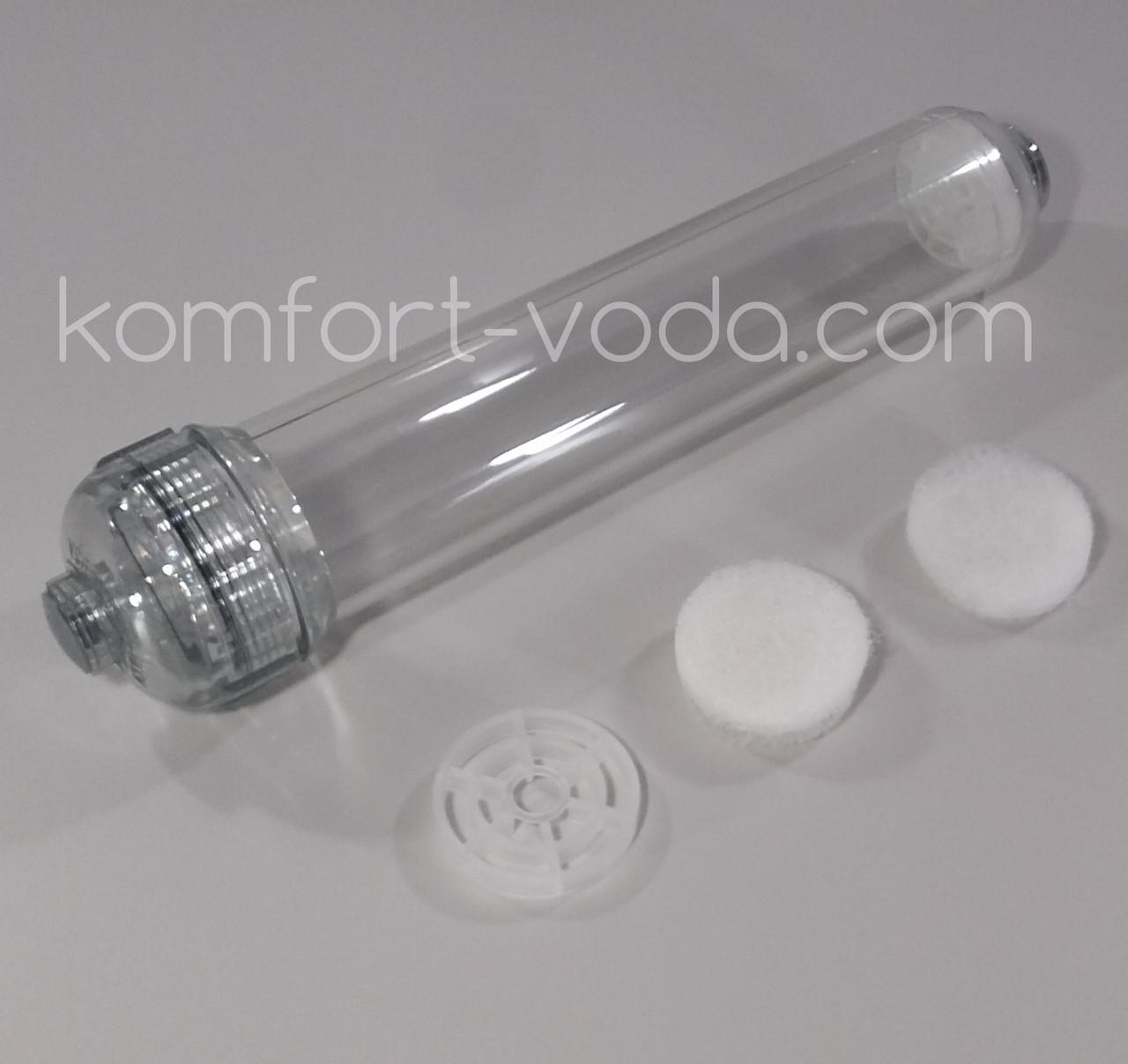 Прозрачный линейный корпус картриджа Aquafilter AICRO-E-2CL-THR