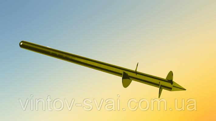 Свая винтовая двухвитковая Ø102 мм.1500 мм