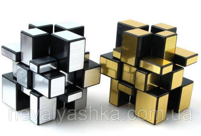 Кубик Рубика Зеркальный Серебро Золото Пластиковый наклейки серебряный золотой, Mirror Cube, 008399