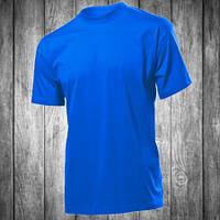Футболка мужская синяя электрик с круглым вырезом Stedman - 00768